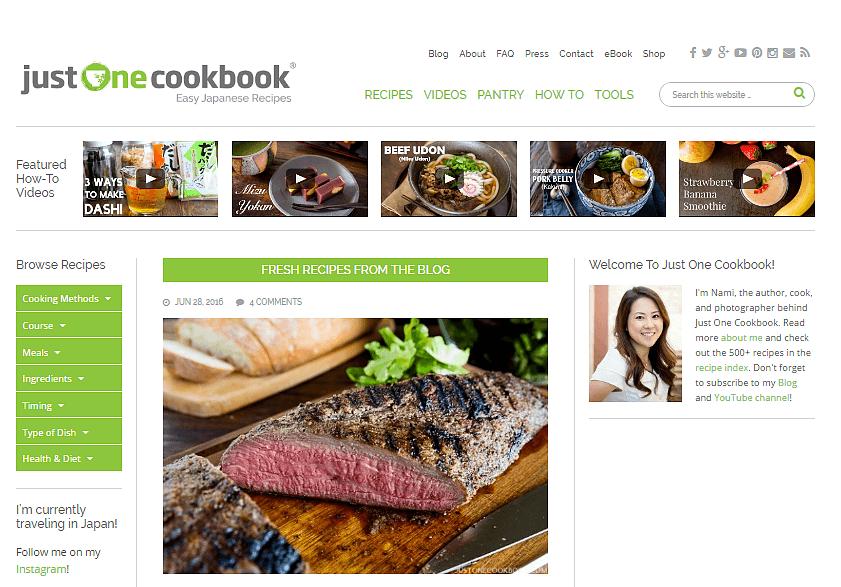 Just one cookbook