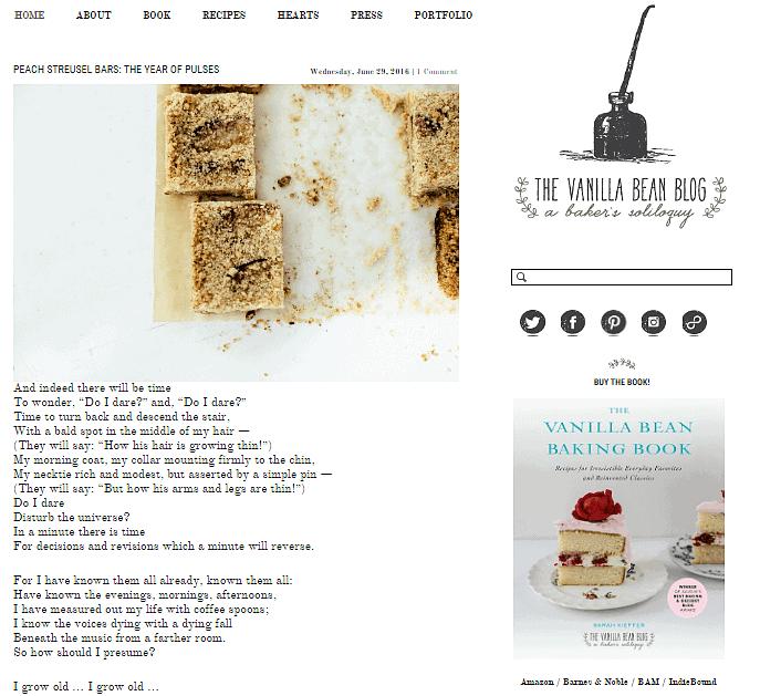 vanilla bean blog