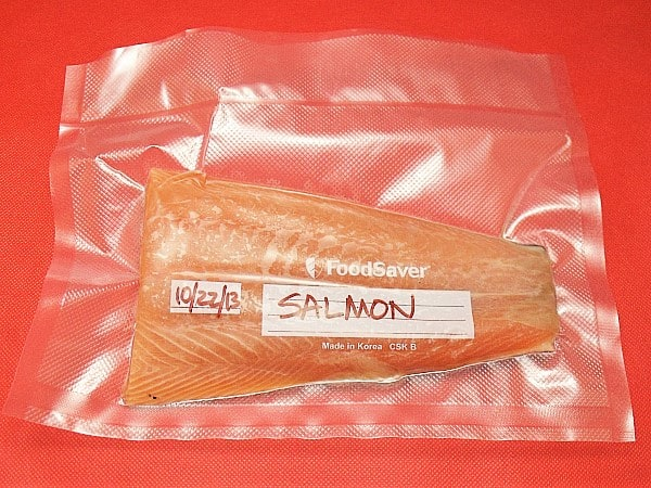 Wrapping Cooked Salmon