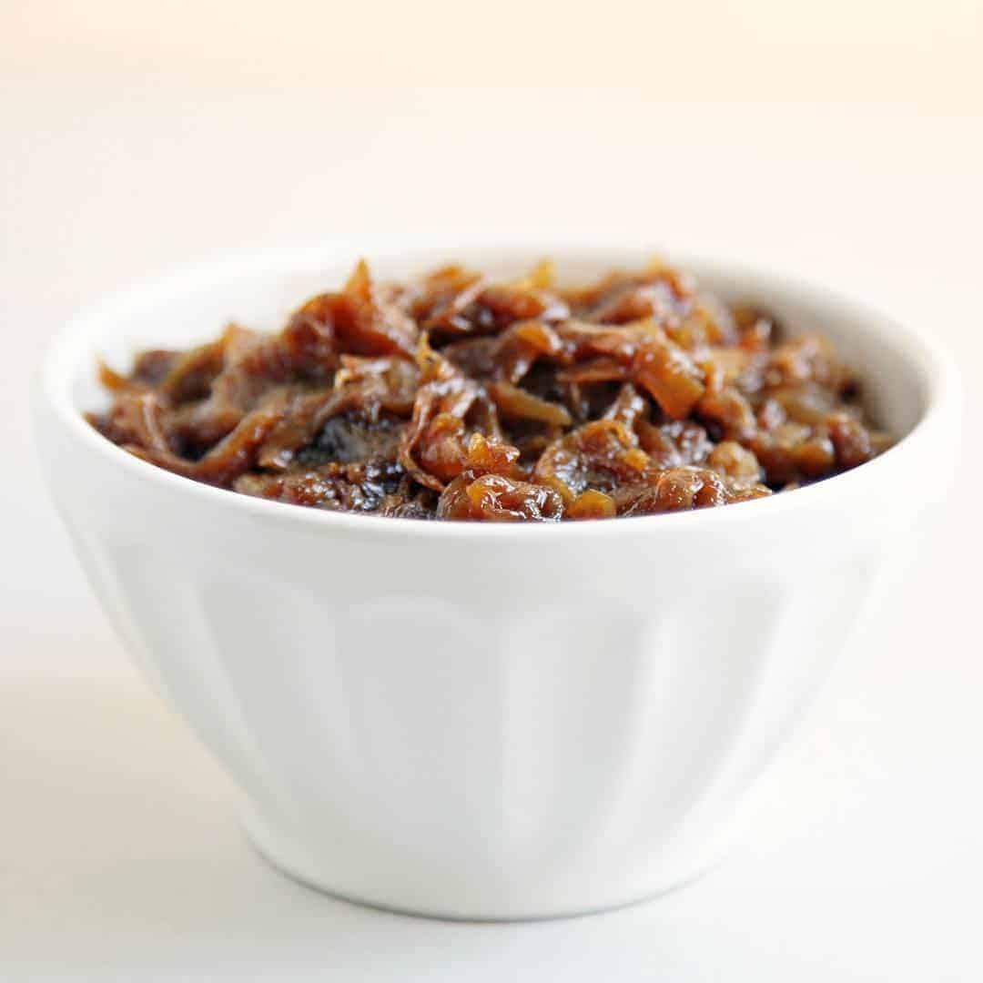 hurka-sausage-onion-caramelized