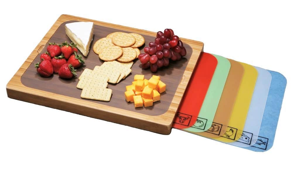 wood-cutting-board-Seville-Classics-Bamboo-Cutting-Board-with-7-Removable-Cutting-Mats