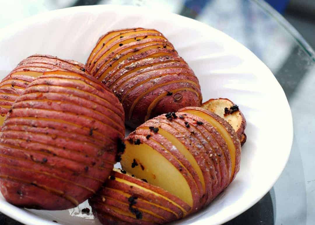 hasselback-red-potato