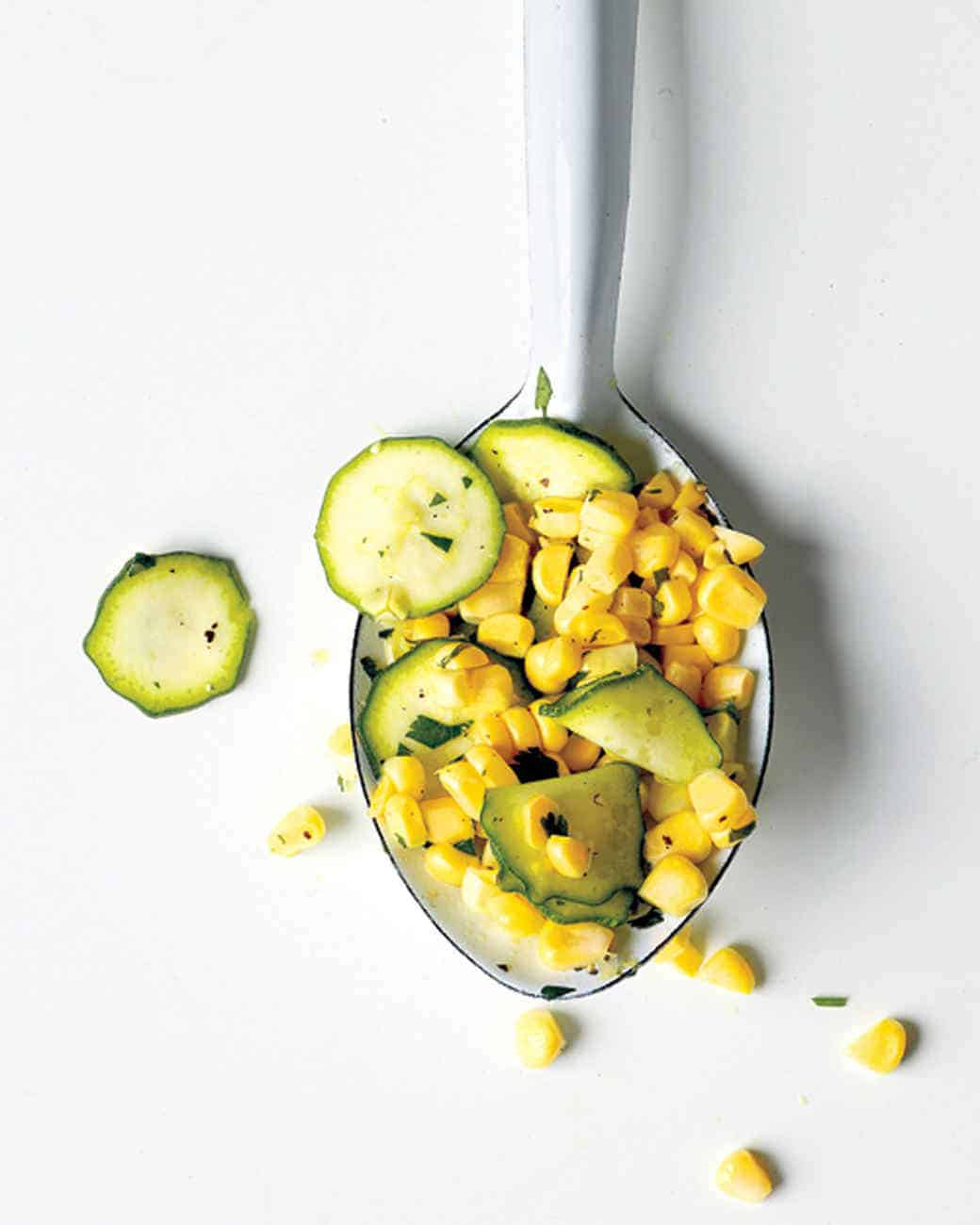 Raw Corn and Zucchini Salad