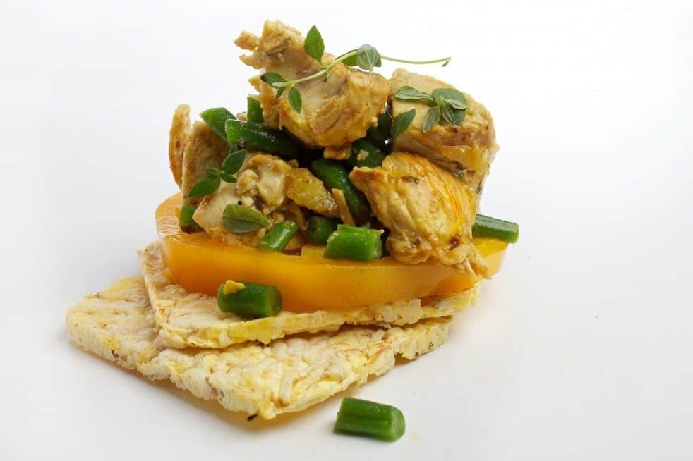 Saffron Chicken, Lemon, and Green Bean Salad