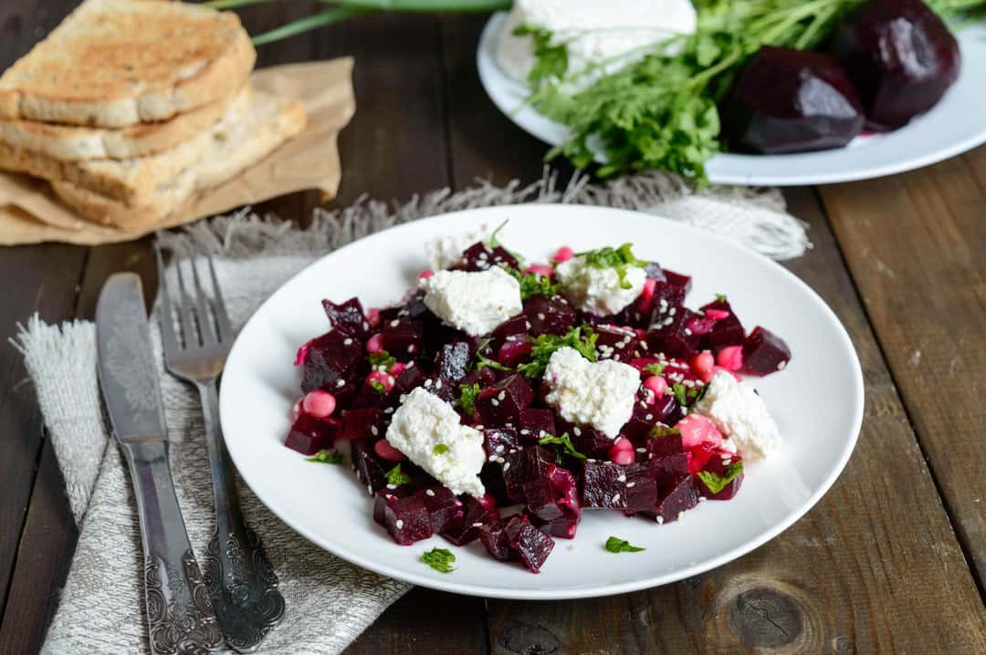 Beetroot, feta & grain salad