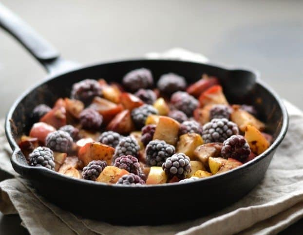 Almond Apple And Blackberry Moist Skillet CakeAlmond