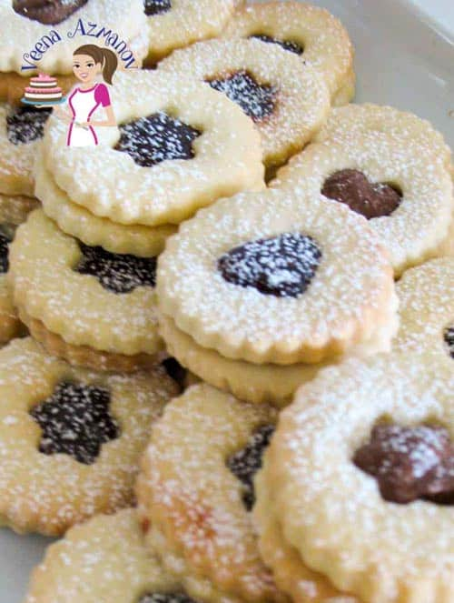Almond Linzer Cookies With Assorted Fillings