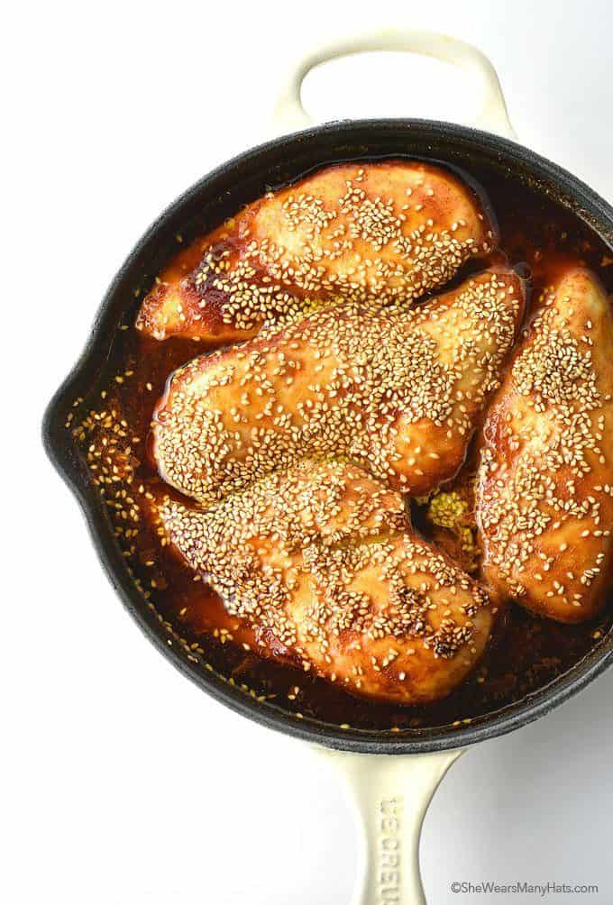 Baked Sweet And Spicy Chicken Breasts
