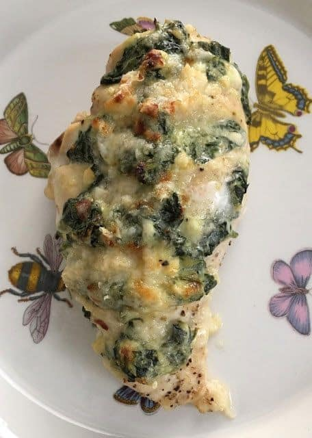 Spinach & Four Cheese Hasselback Chicken