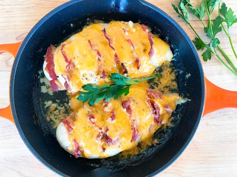 Bacon And Cheddar Chicken With Maple-Dijon Glaze