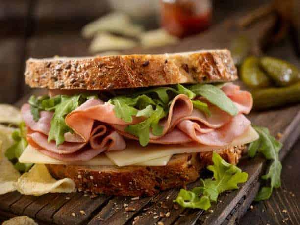 Dali Meat in a Sandwich